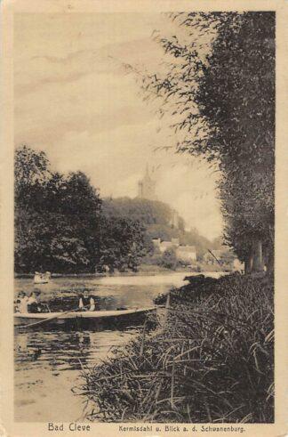 Ansichtkaart Duitsland Bad Cleve Kermisdahl u. Blick a.d. Schwanenburg 1913 Deutschland Europa HC11191