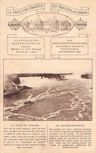 Ansichtkaart België Le Pavillion Canadien Het Paviljoen van Canada Wereldtentoonstelling voor Koloniën, Zeevaart en Vlaamsche Kunst Antwerpen 1930 Europa HC11197