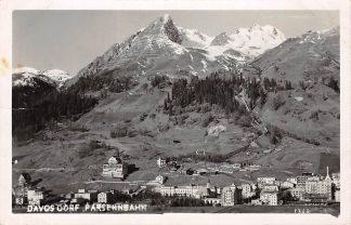 Ansichtkaart Zwitserland Davos Dorf Parsenbahn Fotokaart Suisse Switzerland Europa HC11245