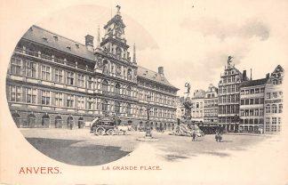 Ansichtkaart België Antwerpen Anvers La Grande Place met Postkoets en paard Europa HC11246