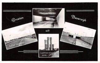 Ansichtkaart Beverwijk Groeten uit 1959 Ingang Velser Tunnel Tunnel viaducten Luchtverversingstoren HC11284