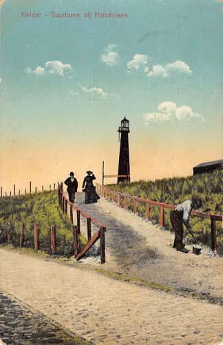 Ansichtkaart Den Helder Vuurtoren bij Huisduinen 1914 HC11287