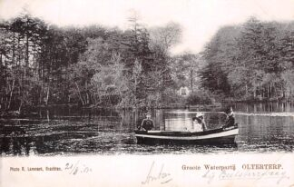 Ansichtkaart Olterterp Groote Waterpartij met roeiboot 1902 Opsterland Drachten HC11331