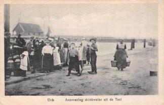 Ansichtkaart Urk Aanvoering drinkwater uit de IJssel 1924 HC11351