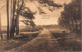 Ansichtkaart Vierhouten Groet uit 1925 Veluwe HC11354