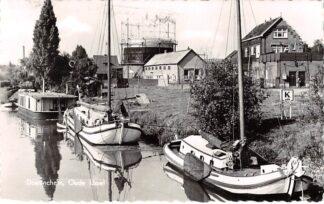 Ansichtkaart Doetinchem Oude IJssel Binnenvaart schepen Scheepvaart Woonark Gashouder 1961 HC11368
