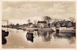 Ansichtkaart Schoorldam met N.H. Kanaal Jaren 30 Bergen en Schagen HC11375