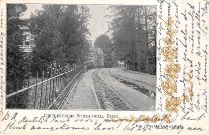 Ansichtkaart Zeist Driebergsche Straatweg 1903 Kleinrondstempel Zandvoort 1903 Filatelie HC11380