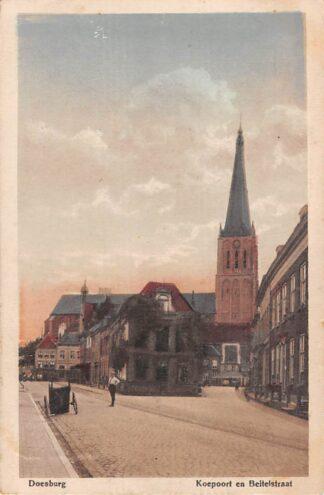 Ansichtkaart Doesburg Koepoort en Beitelstraat 1919 HC11386