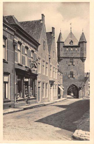 Ansichtkaart Hattem Dijkpoort en Pastorie Sigarenwinkel 1948 Veluwe HC11392