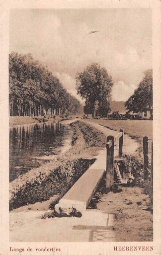 Ansichtkaart Heerenveen Langs de vondertjes 1928 HC11394