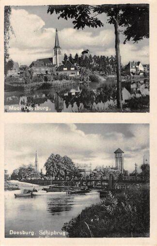 Ansichtkaart Doesburg Mooie Doesburg en Schipbrug Gashouder en wateroren Binnenvaart schepen HC11398