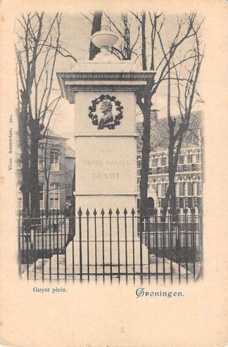 Ansichtkaart Groningen Guyot Plein met monument Vivat 390 HC11414