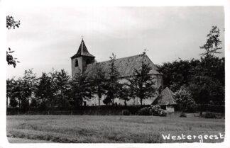 Ansichtkaart Westergeest Fotokaart Kerk en Kerkhof Tussen Kollum en Dokkum HC11493