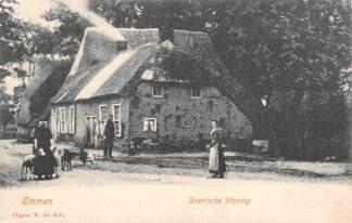 Ansichtkaart Emmen Drentsche Woning Klederdracht HC11494