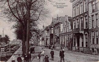 Ansichtkaart Groningen Groote Spilsluizen Zuidzijde 1906 Binnenvaart schepen Scheepvaart Sluis HC11495