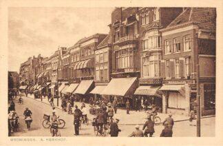 Ansichtkaart Groningen A-Kerkhof Winkels en volk HC11508
