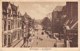 Ansichtkaart Groningen A-Kerkhof 1934 Trolleybus Auto  HC11509