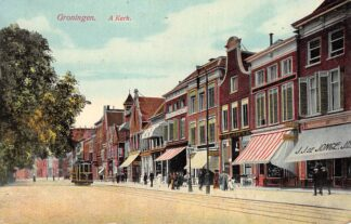 Ansichtkaart Groningen A-Kerkhof 1922 Tram HC11510