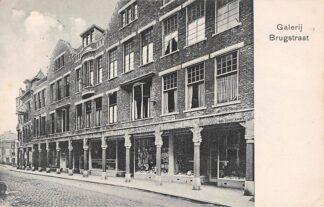 Ansichtkaart Groningen Brugstraat 1910 Winkel Galerij HC11537