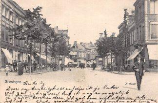 Ansichtkaart Groningen A-Straat 1903 HC11540