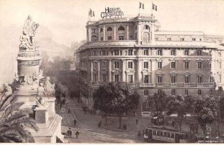 Ansichtkaart Zwitserland Geneve Genova Hotel Colombia Reclame Tram Suisse Schweiz Switzerland Europa HC11586