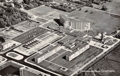 Ansichtkaart Groningen Diakonessenhuis 1966 Luchtfoto HC11628