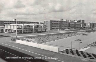 Ansichtkaart Groningen Diakonessenhuis Eetzaal en Zusterhuizen 1968 HC11629