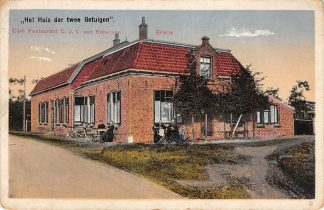 Ansichtkaart Brielle Café Restaurant C.J.L. van Bohemen Het Huis der twee Getuigen HC11634