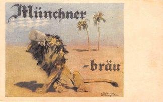 Ansichtkaart Duitsland München Brauerei Munchener Brau Bier Reclame Illustrator K. Olshausen-Schonberger Deutschland Europa HC11653