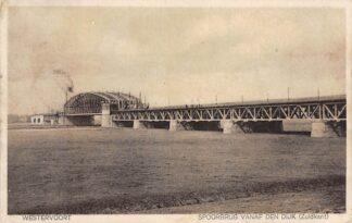 Ansichtkaart Westervoort Spoorbrug vanaf den dijk (Zuidkant) 1929 Spoorwegen Arnhem HC11700