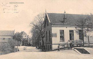 Ansichtkaart Schoonhoven Lekdijk West 1908 Café Restaurant Van Zessen Van Nooten No. 450 HC11739