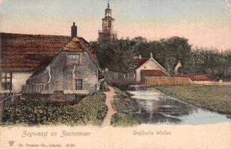 Ansichtkaart Zegwaart en Zoetermeer Delftsche Wallen rond 1900 HC11765