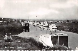 Ansichtkaart Groet (NH) Jachthaven met schepen HC11792