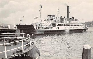 Ansichtkaart Amsterdam IJ Pont Gemeentepont No. 17 Binnenvaart schepen Scheepvaart Veer HC11802