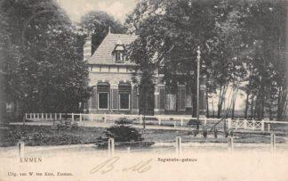 Ansichtkaart Emmen Registratie-gebouw 1905 HC11814