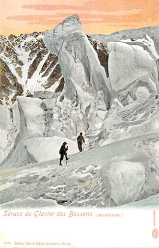 Ansichtkaart Zwitserland Seracs du Glacier des Bossons MontBlanc Bergbeklimmers Suisse Schweiz Switzerland Europa HC11856