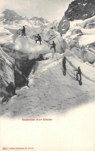 Ansichtkaart Zwitserland Ascension dún Glacier Bergbeklimmers Suisse Schweiz Switzerland Europa HC11857