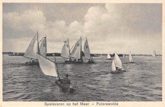 Ansichtkaart Paterswolde Spelevaren op het Meer 1942 Zeilen HC11864