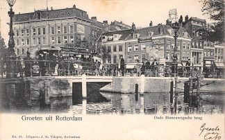 Ansichtkaart Rotterdam Oude Binnenwegschebrug met Paardentram 1906 Vlieger No. 57 Tram HC11918