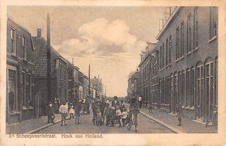 Ansichtkaart Hoek van Holland 2e Scheepvaartstraat Hondenkar 1933 HC11960