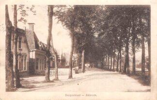 Ansichtkaart Akkrum Dorpsstraat 1918 Friesland Heerenveen HC11975