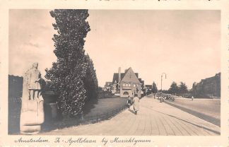 Ansichtkaart Amsterdam Z - Apollolaan bij Muzieklyceum en monument 1935 HC11980
