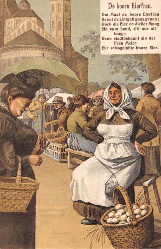 Ansichtkaart Duitsland Koln 1912 De boore Eierfrau Humor Fantasie Deutschland Europa HC11986