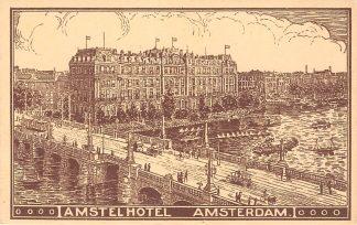 Ansichtkaart Amsterdam Reclame Amstel Hotel HC11992
