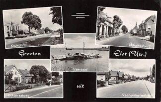 Ansichtkaart Elst (UT) Groeten uit 1959 Veerpont HC11999