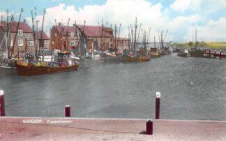 Ansichtkaart Ouddorp Vissershaven 1961 Vissers schepen HC12003