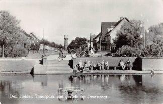 Ansichtkaart Den Helder Timorpark met gezicht op Javastraat en watertoren 1958 HC12025