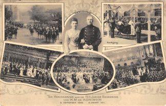 Ansichtkaart Amsterdam 12 halfjarige regeering van H.M. de Koningin 1911 Koninklijk Huis HC12032