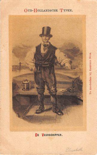 Ansichtkaart Amsterdam Oud-Hollandsche Typen De Veerschipper Klederdracht Fantasie HC12049